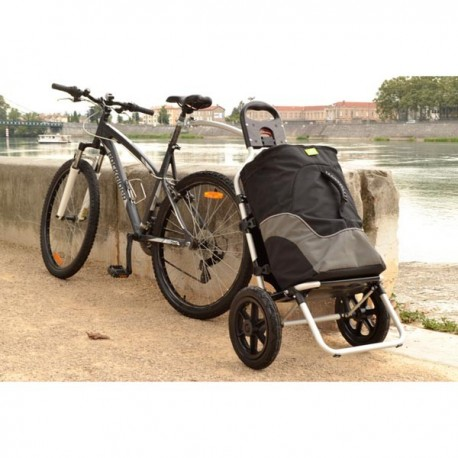 "CHARIOT ISOTHERME POUR VELO ""BIKE & SHOP"""